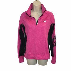 PINK Victoria's Secret Pink Black Zip Sweatshirt